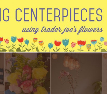 Spring Centerpieces that are DIYable using TJ's Flowers