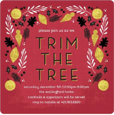 Trim the tree invite via Purple Trail