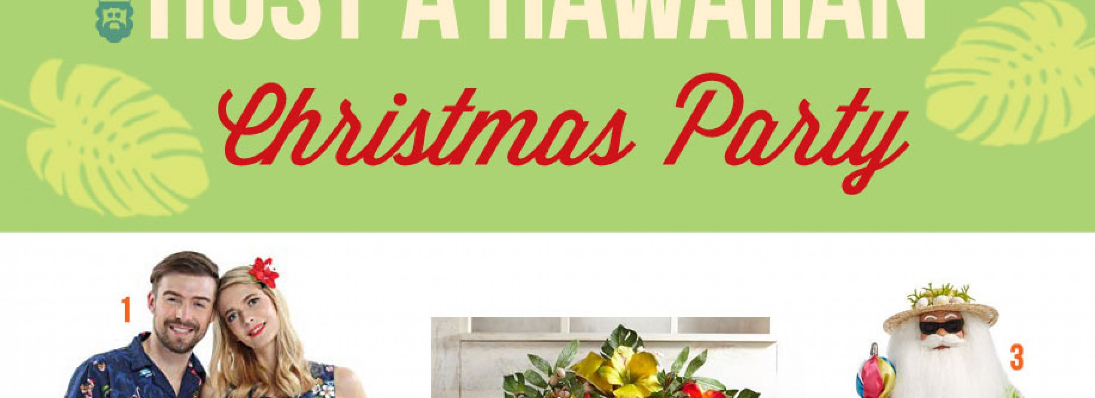 Tropical Christmas Party Ideas.Host A Hawaiian Christmas Party With Whimsical Ideas