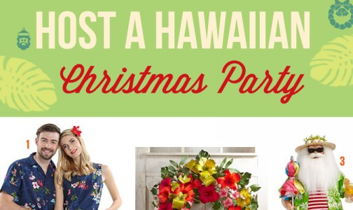 How to host a Hawaiian Christmas Party in the middle of winter!