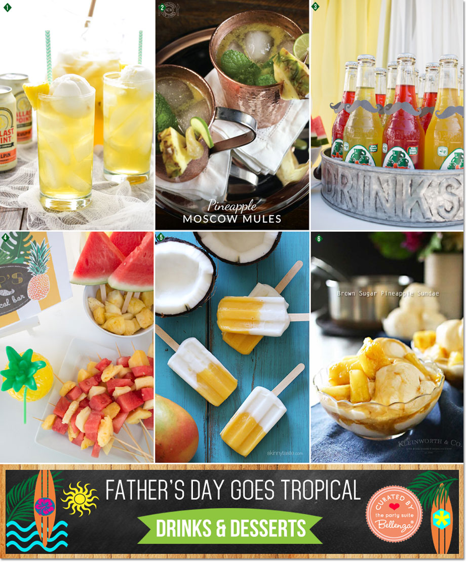 Tropical Drinks and Desserts for Father's Day BBQ