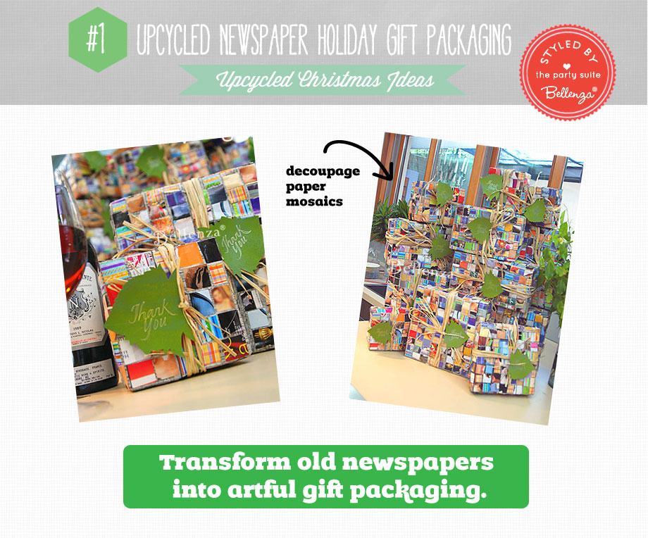 Upcycled Newspaper Gift Packaging | Bellenza