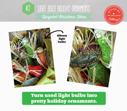 Make light bulb ornaments for an upcycled Christmas | Bellenza