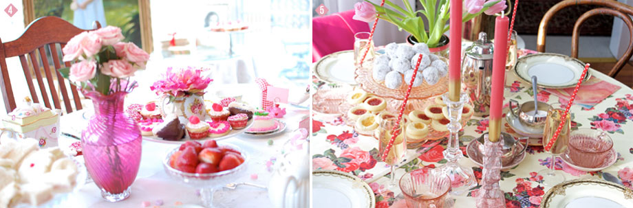 Valentine's Tea Party Pastry and Cake Display Stands
