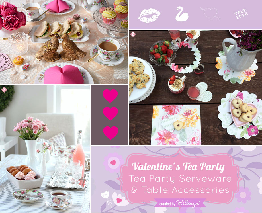 Valentine's Tea Party Sweets and Sandwich Display Ideas
