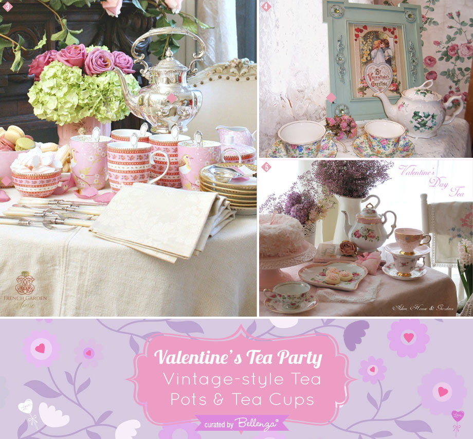 Valentines tea serverware