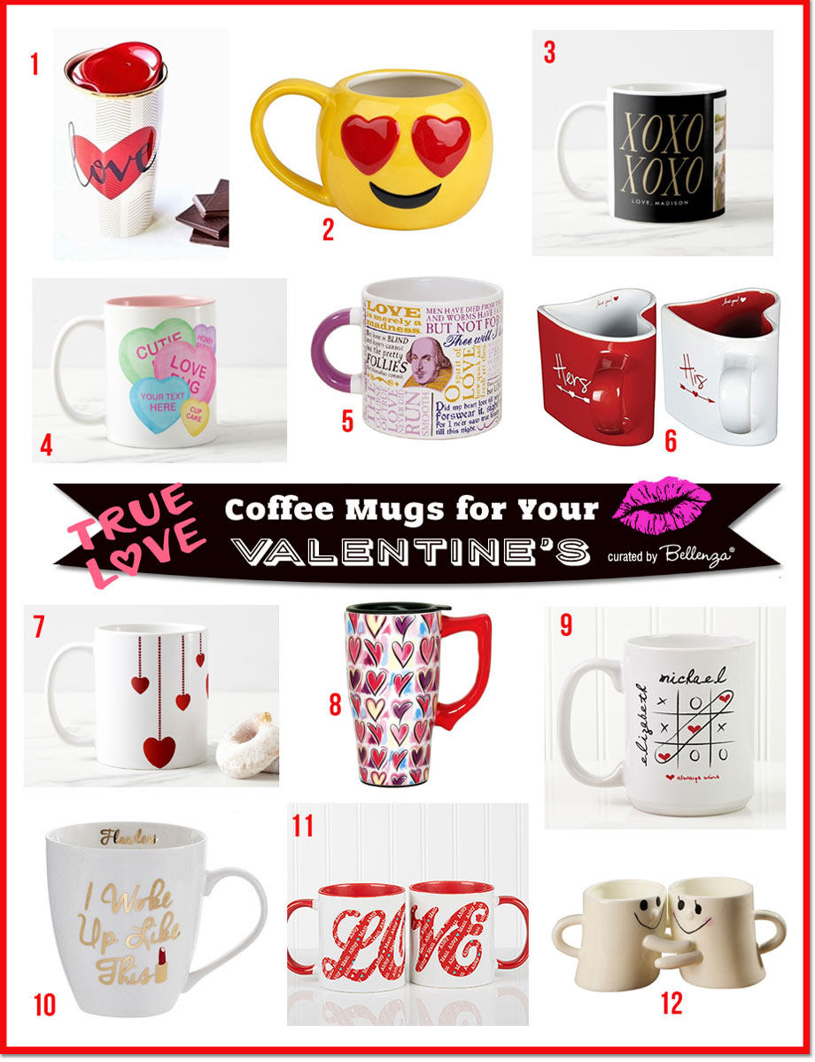 12 Cute Valentine's Day Mugs