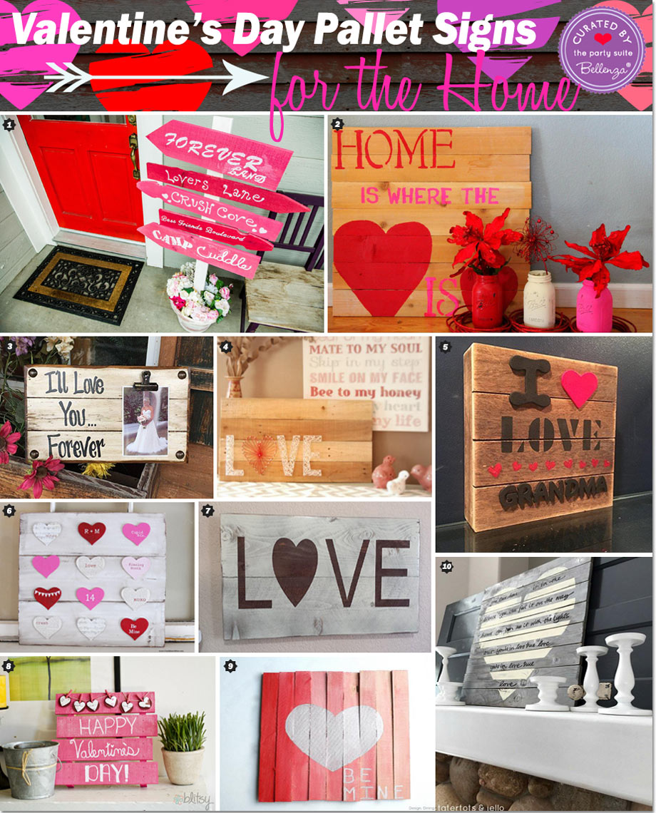 Valentine\u0027s Day: Handmade Pallet Signs to Decorate Your Home!