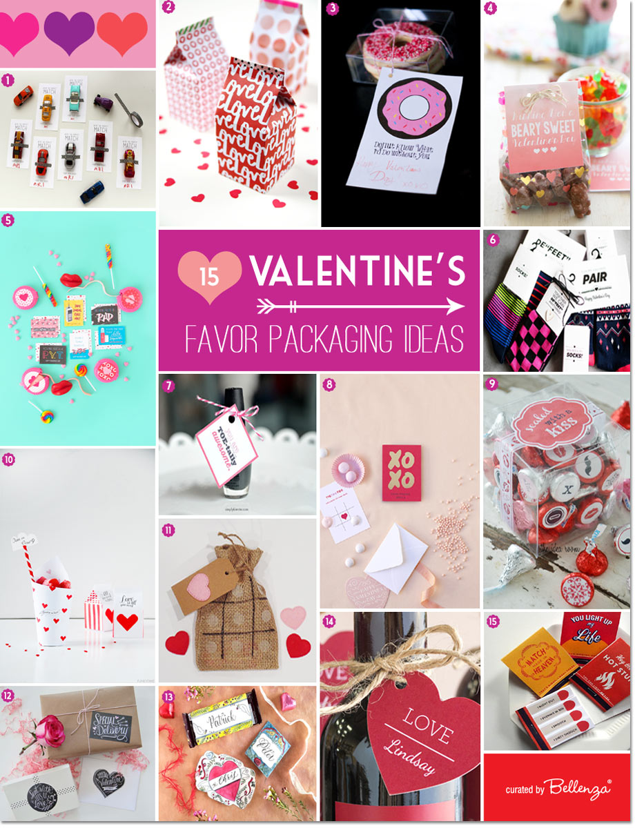Valentine's favor packaging ideas for homemade ideas.