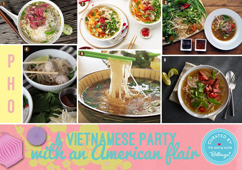 Pho party recipes for a Vietnamese American gathering