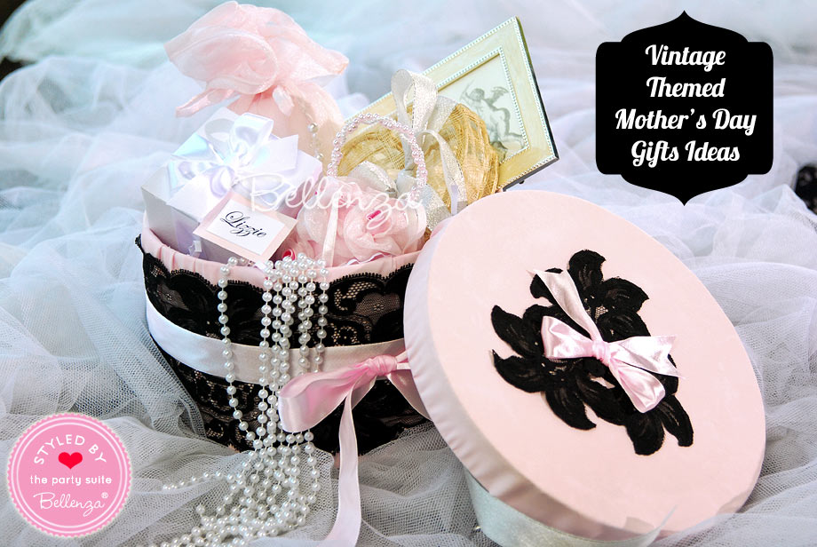 Make a hatbox filled with Vintage-inspired treats and goodies.