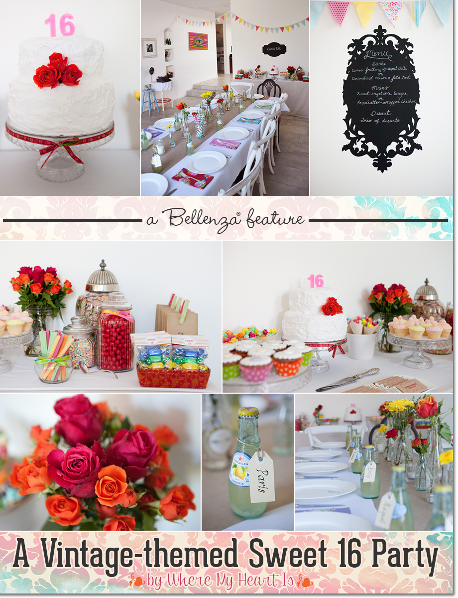 Vintage Sweet 16 Home Party