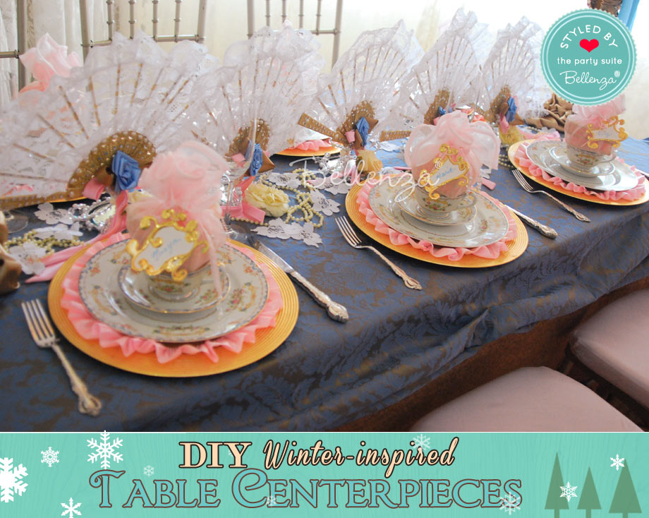 Vintage winter centerpiece