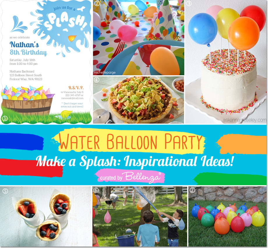 Water Balloon Party Decorating & Food Ideas