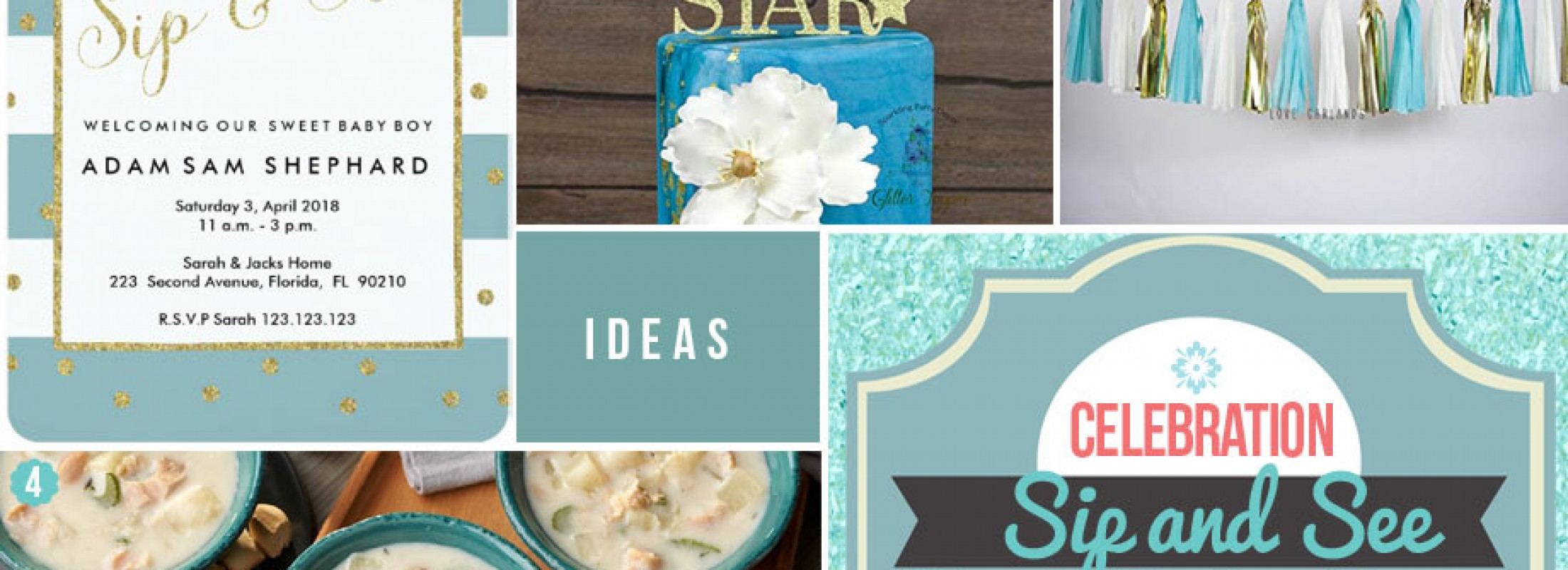 Welcome Baby Boy Party Ideas