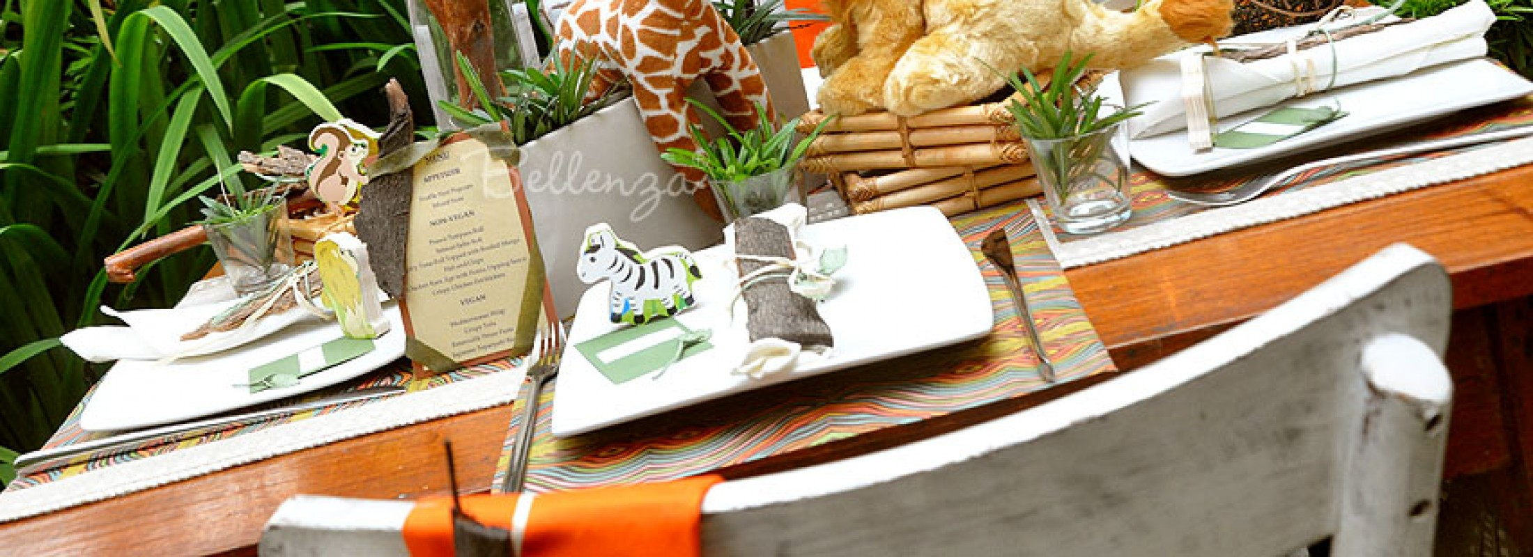Get Crafty with a 'Wild' Welcome Display for a Safari Baby Shower!