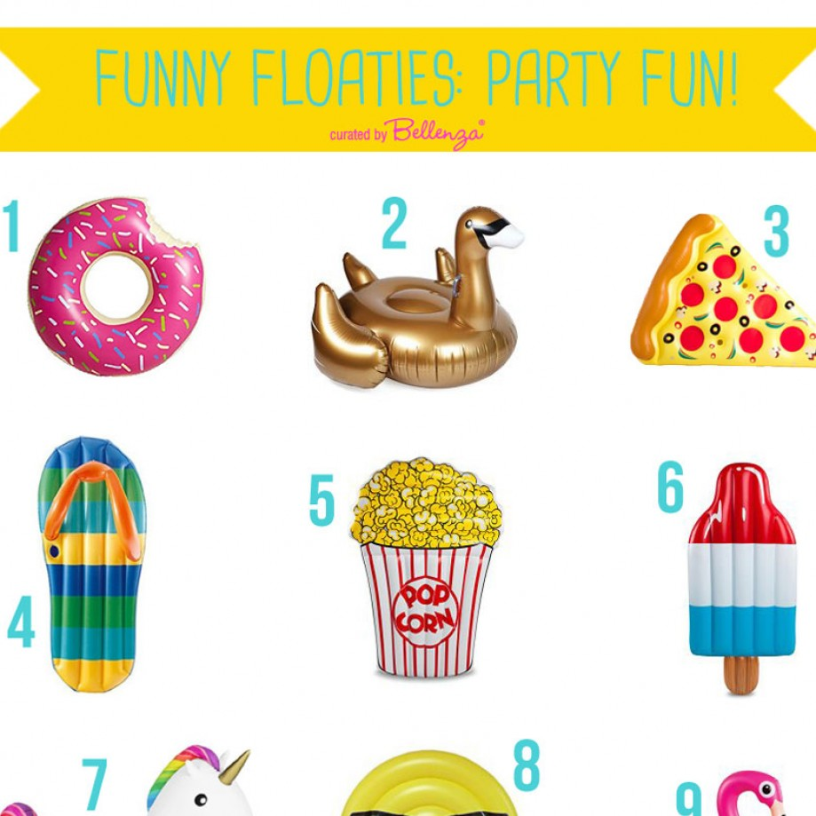 Themed Floaties for a Pool Party with Pizzazz