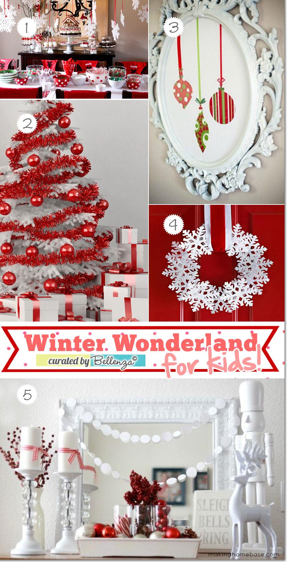 Winter wonderland for kids decorations