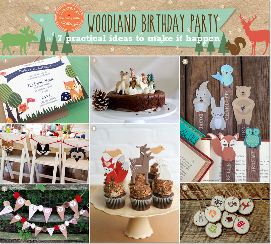 Woodland Party Decorations With The Cutest Critters