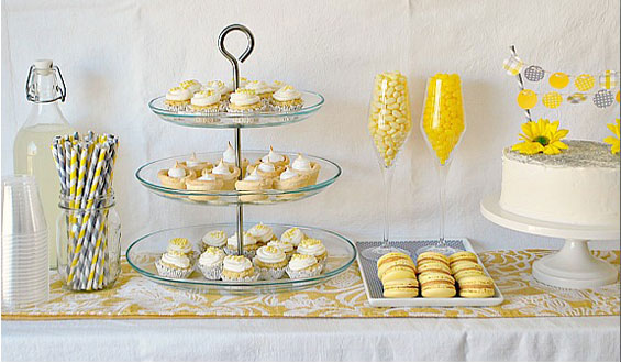 Yellow Themed Baby Shower ~ Yellow themed baby shower ideas with a chic and modern style