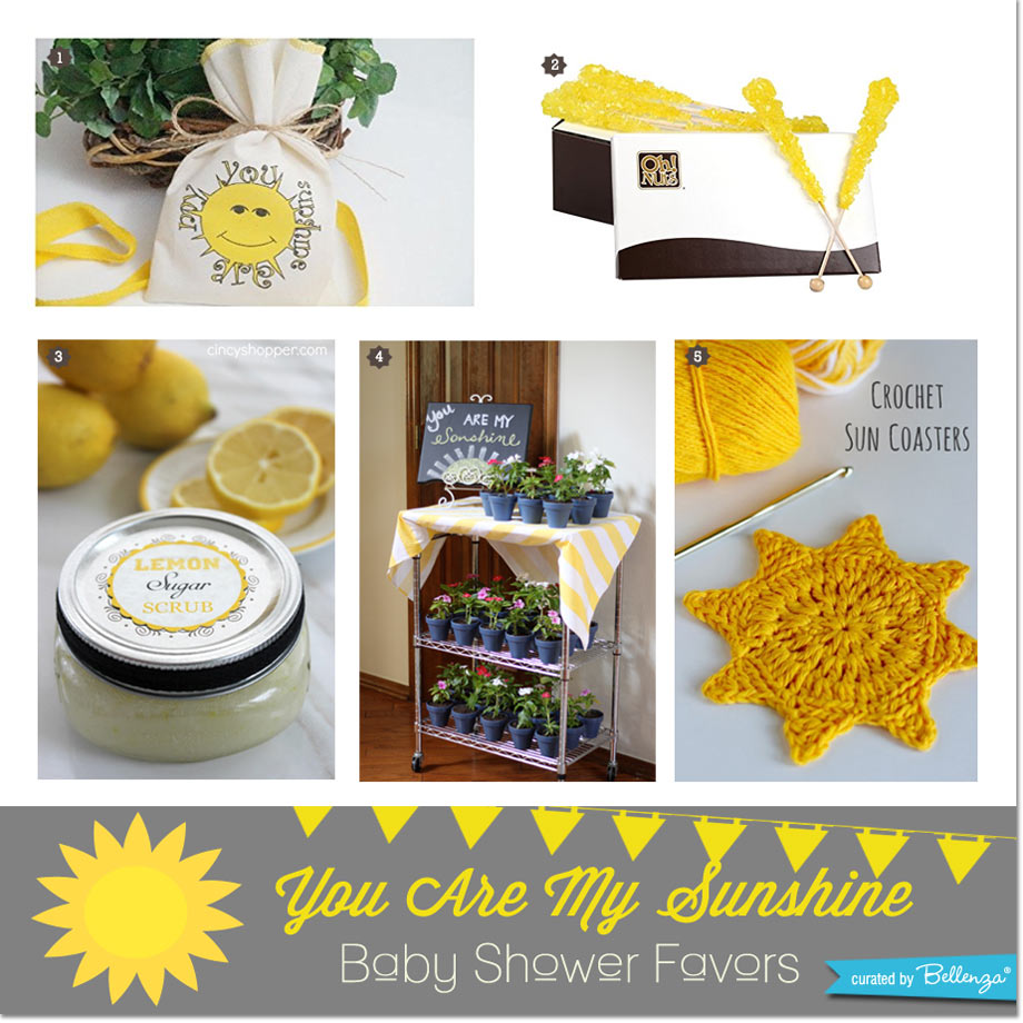You are my sunshine party favors for a baby shower // curated by Bellenza.