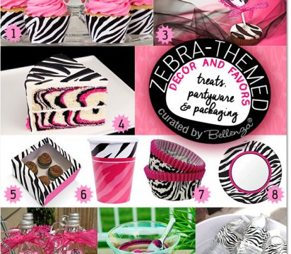 Zebra Pink and Black Party Guide from Bellenza