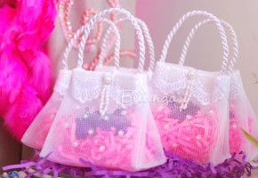 Kaibeya Mini Tulle Purse Favor Bag (set of 5)