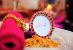 Round Copper Place Card Frames