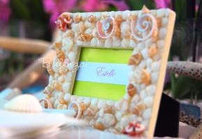 Cescaleña Seashell Place Card Frame