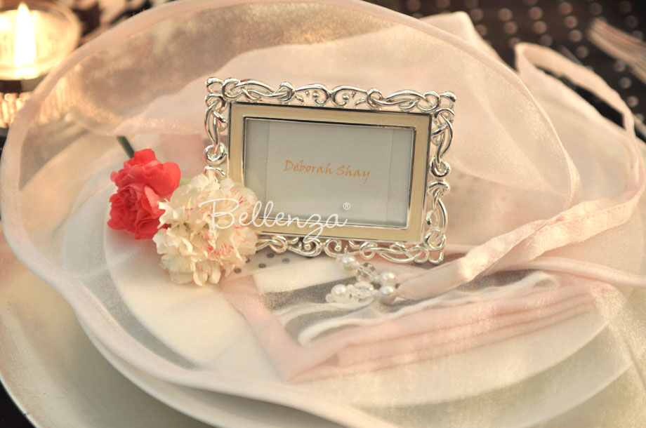 Bianna Enamel Place Card Frames -The SHOP at Bellenza