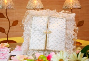 Elisadora Ivory Ring Bearer Pillows