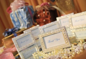 Mini Ivory Picture Frame Favors (set of 5)