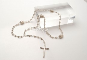 Zitalustré Sterling Silver Rosary for Weddings