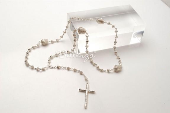 Sterling Silver Rosebud Prayer Rosary