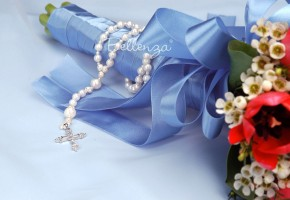 Majorella Pearl Rosary Wedding Keepsake
