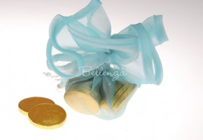 Aqua Blue Favor Wrapping Circles (set of 5)
