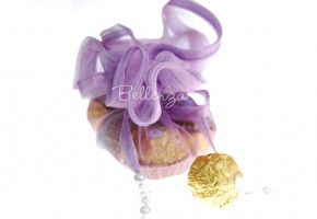 Zaarni Lilac Organza Favor Wraps (Set of 5)