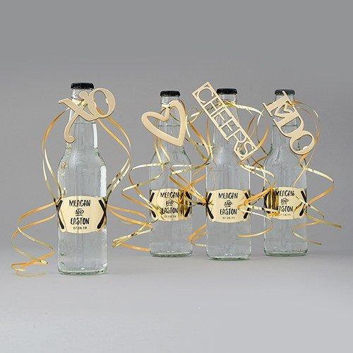 """Gold Bottle Opener """"Cheers"""""""