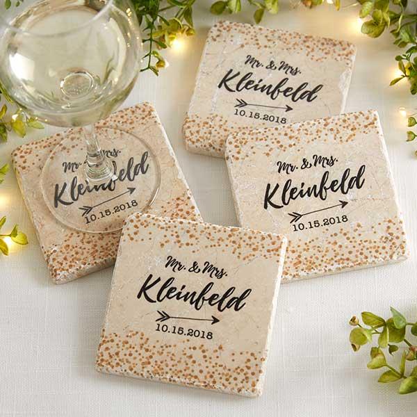 Personalized Tumbled Stone Coasters
