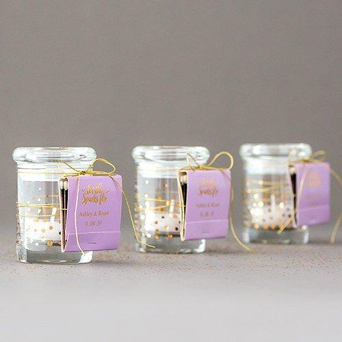 Mini Confetti (Gold) Glass Jars