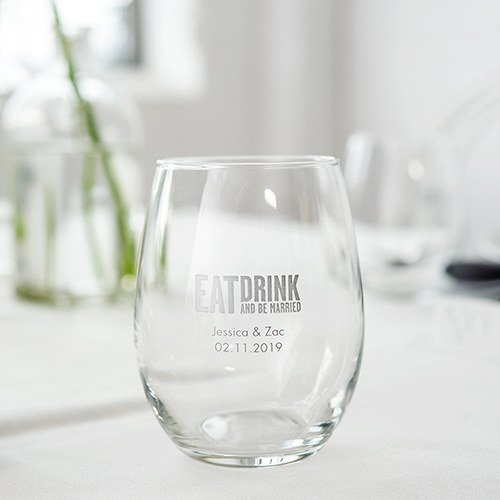 Personalized Stemless Wine Glasses (small)