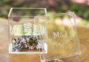 Acrylic Wedding Ring Box Holder