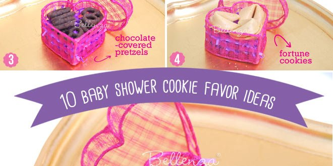 Yummy Baby Shower Favor Ideas with Cookies