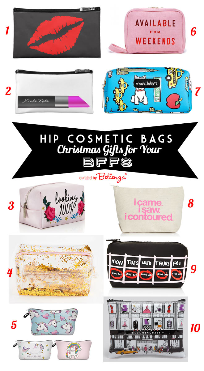 Hip Cosmetic Bags for Christmas Gifts for Your BFFs