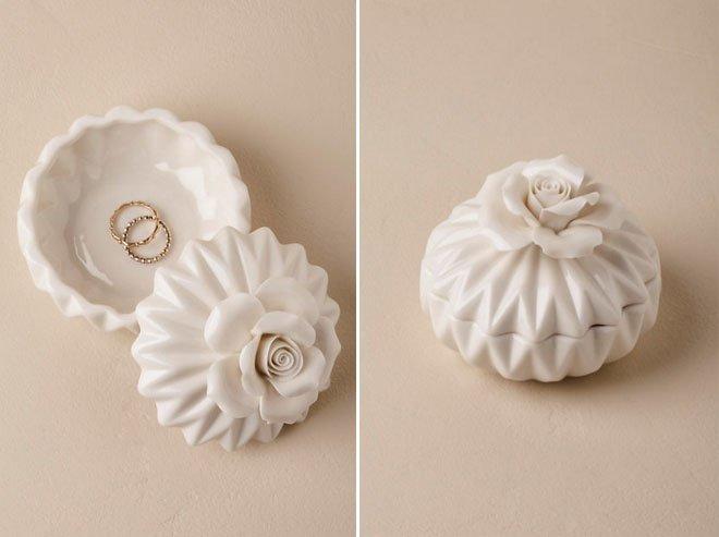 Porcelain Bloom Ring Box via BHDLN