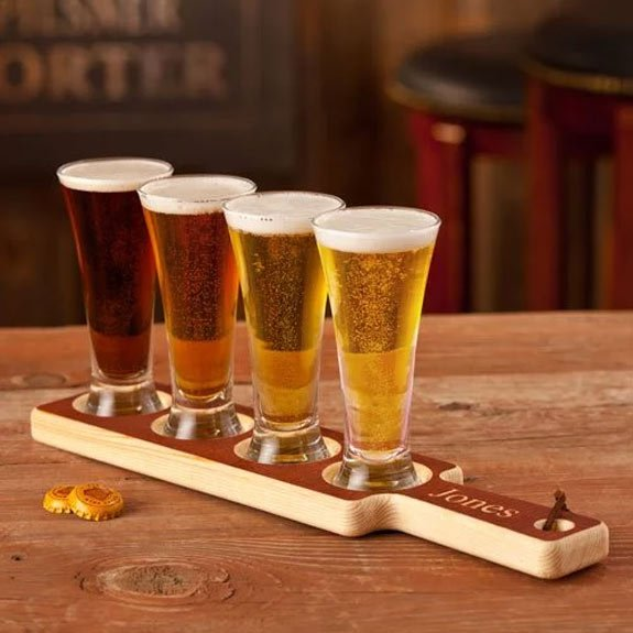 Beer Tasting Paddle Set with Personalization