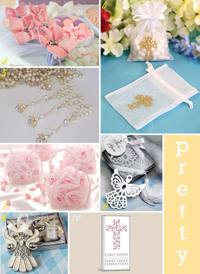 First Communion Favor Ideas for Girl