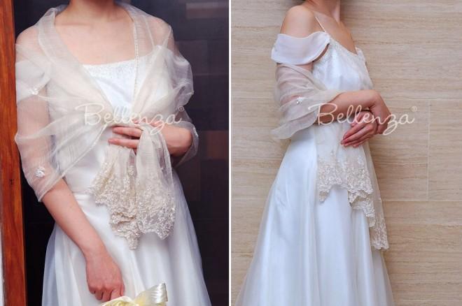 Wedding shawl for bride.
