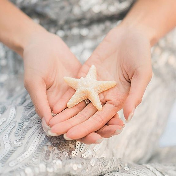 Miniature Starfish Candle in a Favor Box