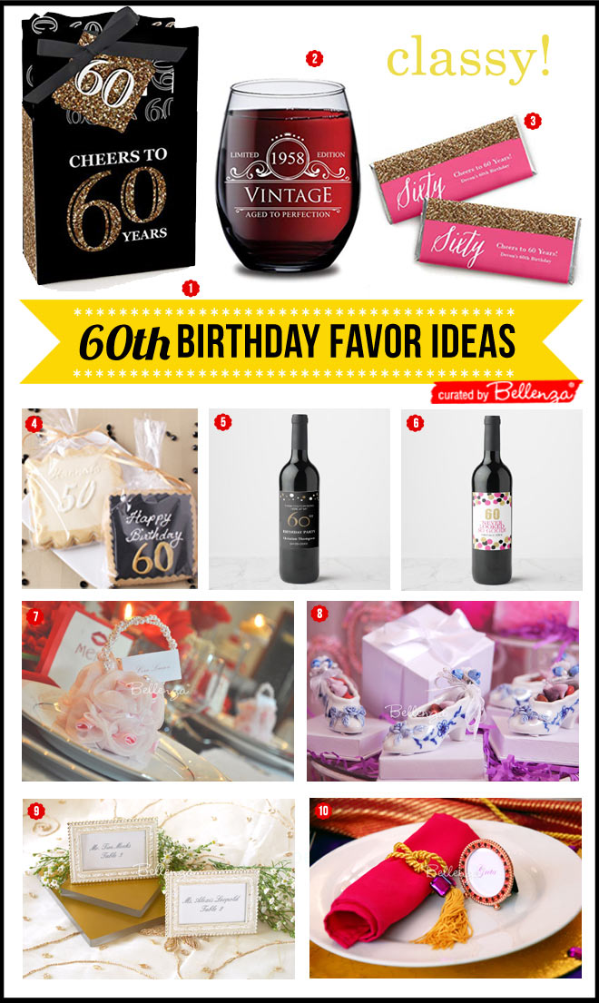 10 Sophisticated 60th Birthday Favors for Ladies